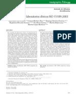 Acreditación de laboratorios clínicos ISO 151892003