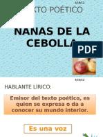 TEXTO POÉTICO  NANAS DE LA CEBOLLA