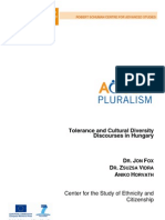 Tolerance and Cultural Diversity Discourses in Hungary