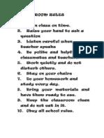 Classroom Rule1