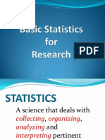 Basic Statistics for Research