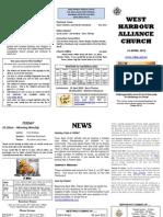 Church Newsletter - 15 April 2012