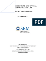 Microwave & Optical Communication Lab Manual - SRM