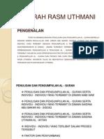 SEJARAH RASM UTHMANI