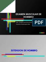 Diapositivas de Examen Muscular de Hombro