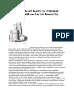 Antioksidan dalam Kosmetik