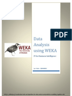 Data Analysis Using WEKA - 10BM60043