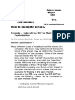 Calculation of Sensex