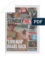 Sunday News Cover