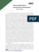 Teatro posdramático. Las resistencias de la representación - Óscar Cornago