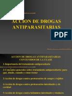 Accion de Drogas Antiparasitarias
