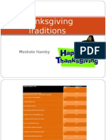 Thanksgiving Traditions-Meshele Hamby