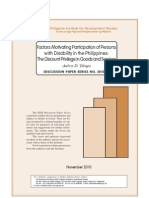 Factors Motivating Participation of Persons With Disability in the Philippines