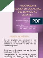 Curso a Distancia Programa de Mejora en La Calidad Del Servicio Al Cliente