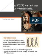 FOXP2 and Neanderthals