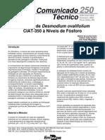 Resposta de Desmodium ovalifolium à níveis de fósforo