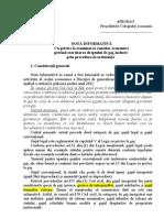 Notă CSJ privind exercitarea dreptului de gaj