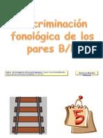 Discriminación fonológica B,D