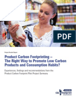 Germany Product Carbon Footprinting 2009