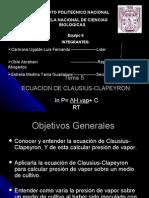 Ecuacion de Clausiius-clapeyron