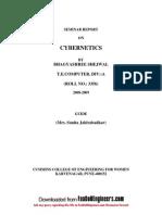 Seminar Report on Cybernetics