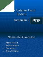 Buku Catatan Farid Badrul