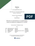 Etude Et Conception d'Algorithme Pour Les Reseaux Mobiles Et Had Hoc