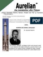 LXXIV ROMÂNII DIN SERBIA (Refugiaţii). Dr. Atanasie Popovici