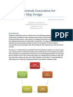 Extended Abstract - Empirical Formula Generation for Preliminary Ship Design