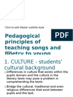 Pedagogical Principles of Teaching Songs and Poetry PP