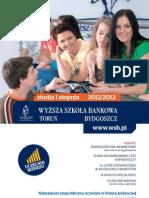 Informator 2012 - studia I stopnia Wyższa Szkoła Bankowa w Toruniu