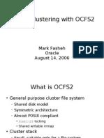 Cheap Clustering Ocfs2