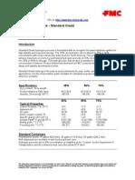 H2O2 Standard Grade Tech Data Sheet