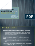 Solar Energy Conversion Using