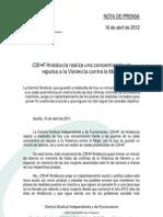 NP_16abril_CSI·F ANDALUCÍA