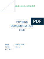 Physics Practical Project for Class 12 Boards