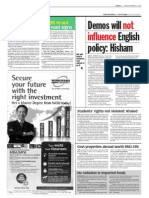 TheSun 2008-12-12 Page04 Demos Will Not Influence English Policy Hisham