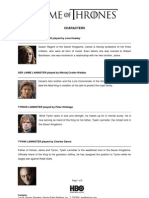 HBO Asia/Philippines  Game of Thrones Season 2 - Characters