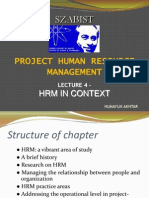 Lecture 4 - Hrm in Context