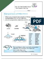 Unit 1 Comparative Worksheet