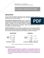 Absorption Atomique Emission Flamme