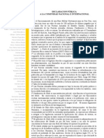 Declaracion Cect 12 Abril 2012
