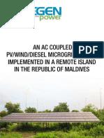 Maldives PV Wind Diesel Microgrid System