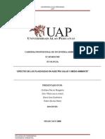 Efectos adversos del uso de Plaguicidas