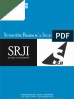 Scientific Research Journal of India SRJI Vol-1 No-2 Year 2012