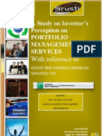 Investors perception on portfolio management services