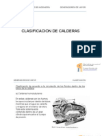 Clasificación de Calderas