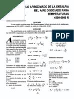 cálculo aproximado de la entalpía del aire