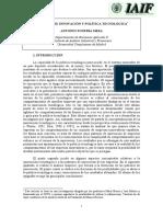 Patrones de innovación y política tecnológica(Es)/ Patterns of innovation and tecnological policy(Spanish)/ Berrikuntza ereduak eta politika teknologikoa(Es)