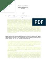Resumes Des Publications Hancart Petitet. 2004-2008 Doc